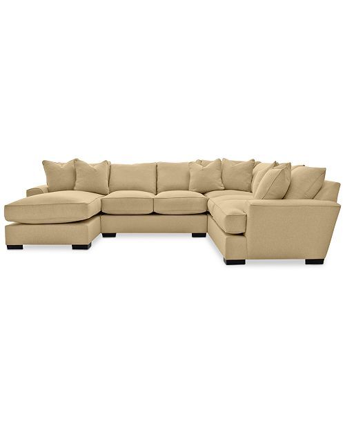 Ainsley 3-Piece Fabric Chaise Sectional Sofa With 6 Toss