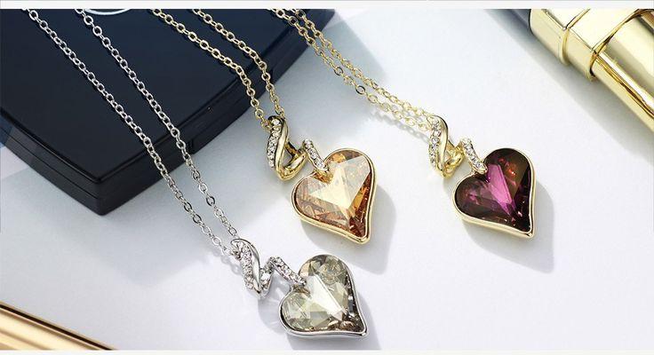 Crystal Golden Shadow Swarovski Crystal Elements necklace. Get 10% off code: Swa-074