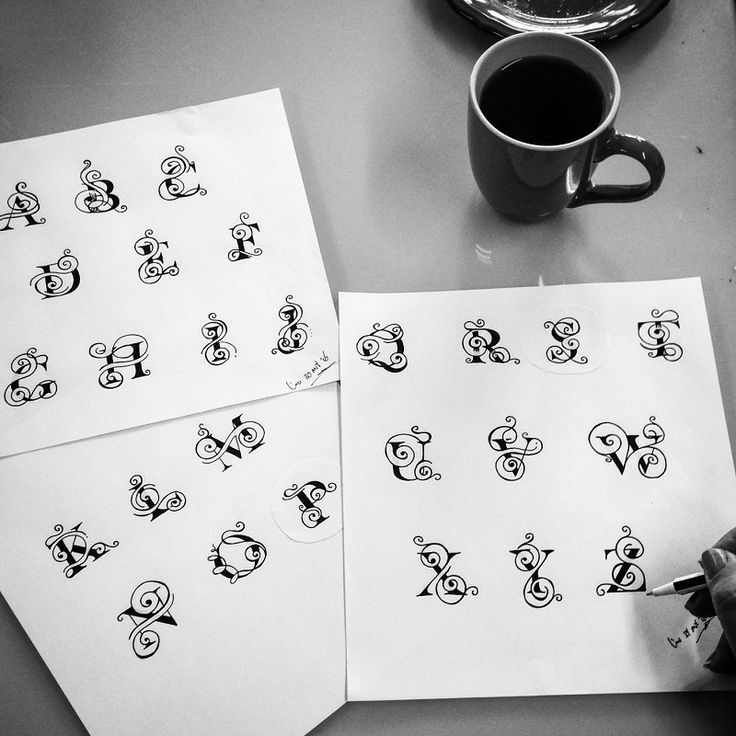 Best 25+ Tattoo Lettering Alphabet Ideas On Pinterest