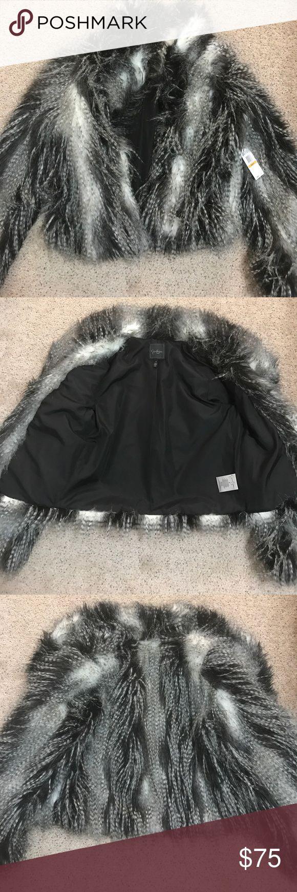 Jessica Simpson faux fur coat *new w tags* sz: S Brand new Jessica Simpson faux fur coat! Jessica Simpson Jackets & Coats Pea Coats