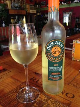 2012 Burgans Albarino - light, crisp white wine full of tropical fruit flavors, perfect for warm weather. Price: $13.99  Rating: 4/5 corks.