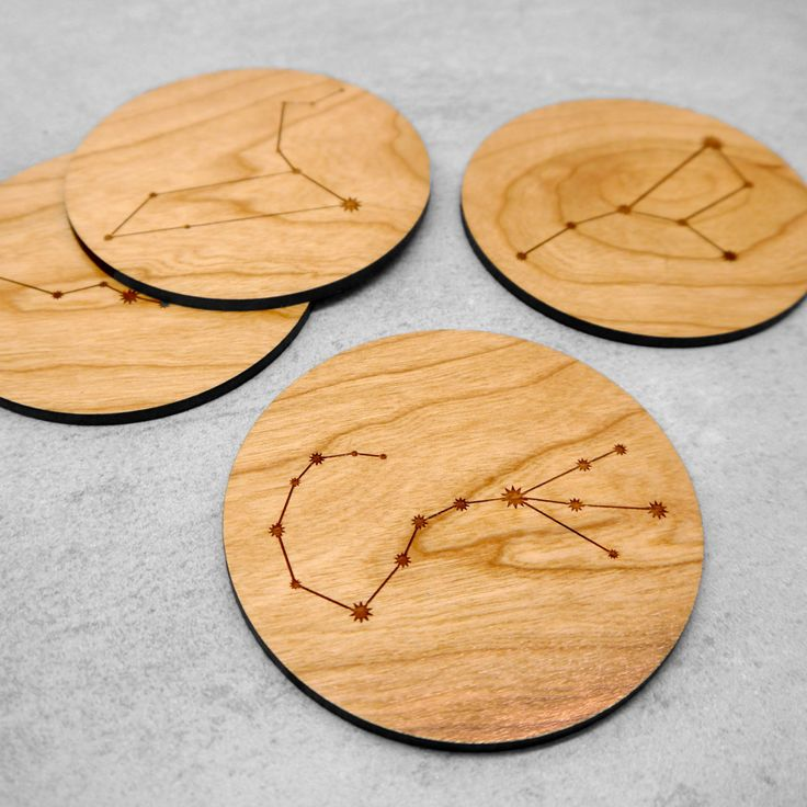 A beautiful wooden coaster laser etched etched with your choice of Zodiac Constellation.  This coaster is personalised with the unique