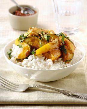 Kipkerrie met rijst recept