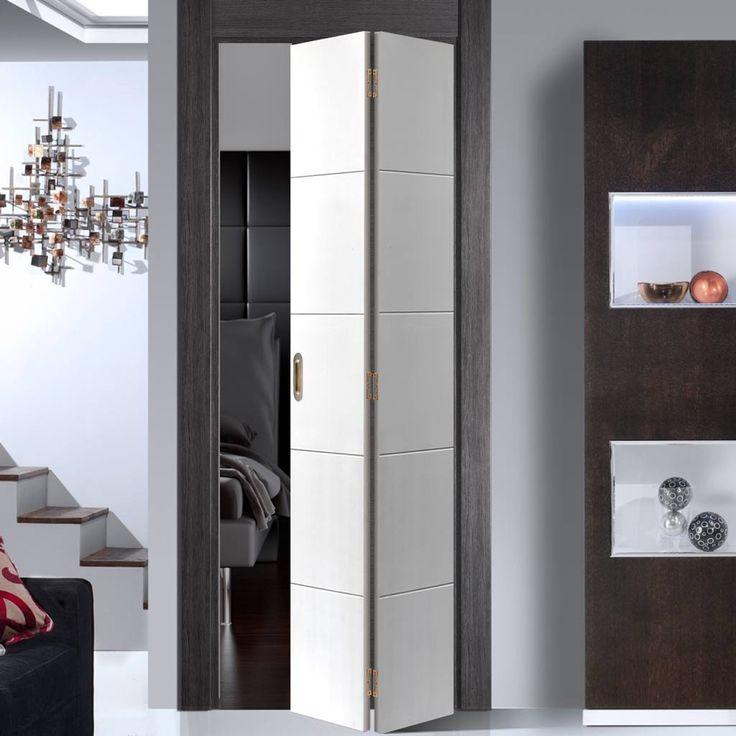 JB KIND Adelphi White Primed Flush Bifold Door - Lifestyle Image