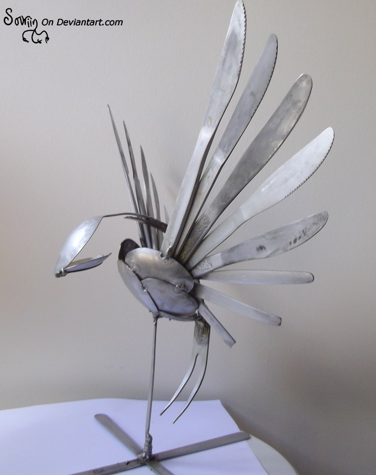welded art | Tig welded Cutlery Swallow by *Sovriin on deviantART