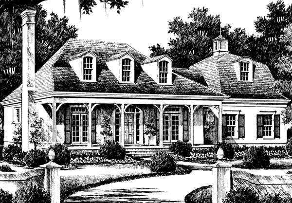 Southern living home plan sl 578 home plans for Country living house plans