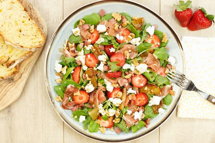 Waar heb jij zin in op een maandagavond als je in de file hebt gestaan? Vast niet om nog een uur in de keuken te staan. Hier een recept salade geitenkaas!