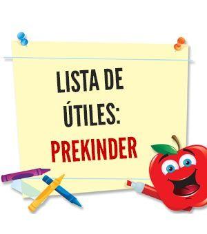 Lista de útiles escolares: Prekinder