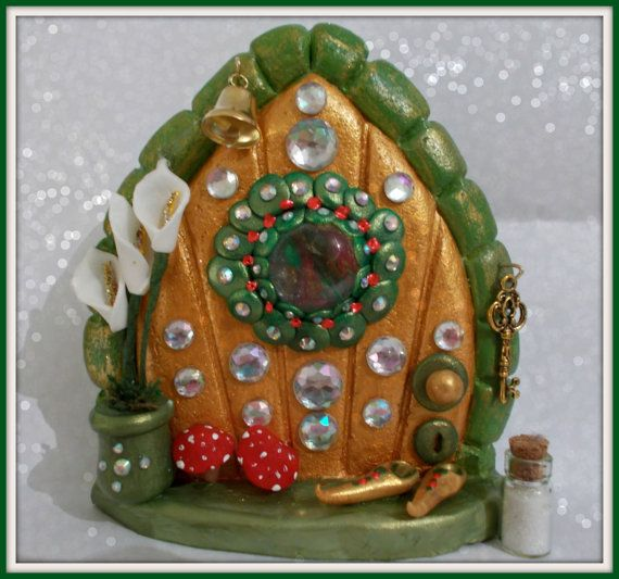 FD245  Fairy Door    Herculite by CharmedFairyDoors on Etsy