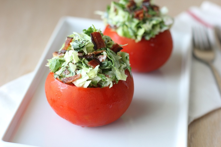 BLT Spinach Salad with Fresh Garlic Dill Dressing