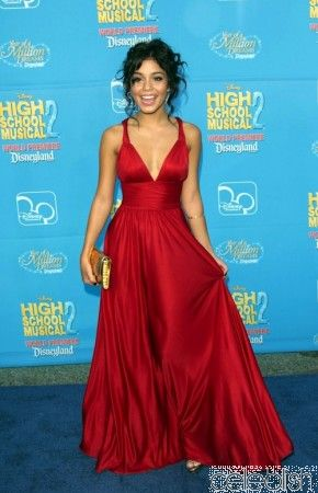 Vanessa Hudgens Red Dress at High School Musical Premiere Celebrity Red Carpet Dresses