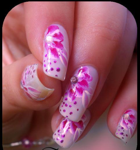 Hawaiian theme nails!
