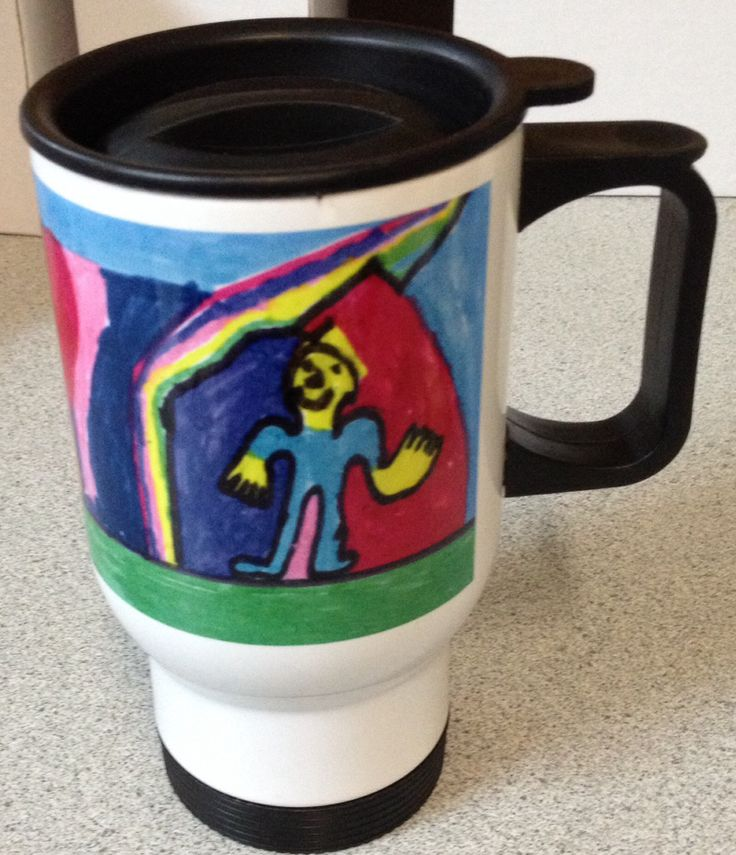 Great gift for Father's Day. Travel mug to keep Dad's drink hot!