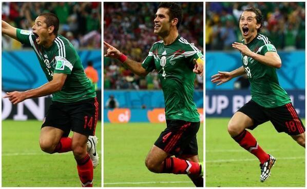 Los tres goles de México.