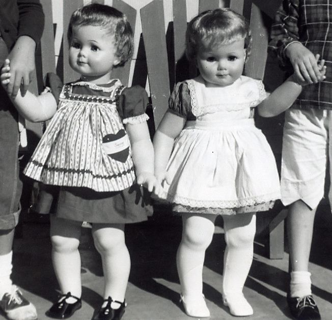 Saucy Walker dolls we got for Christmas 1961. I have such fond memories of her.