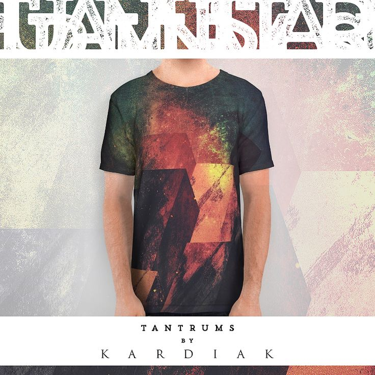 """Last #design of #2015 is """"Tantrums"""", now available at Society6  --> https://society6.com/product/tantrums_all-over-print-shirt?curator=happymelvin  #streetwear #artwork"""