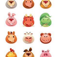 animal (vector) icon...@Loogan采集到Illustration(275图)_花瓣插画/漫画