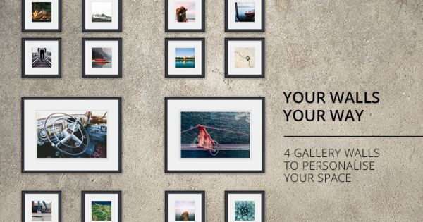 Gallery Wall Layouts | Take a look at 4 different ways to set up your gallery wall with Orms Print Room & Framing.