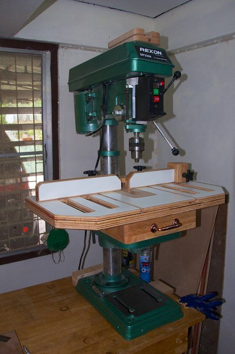 Drill Press Table - by Mark Gipson @ LumberJocks.com ~ woodworking community