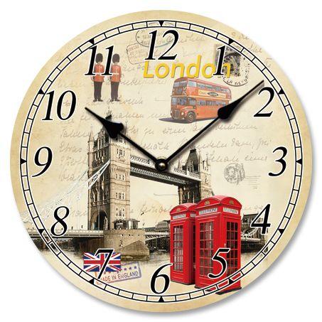 Ρολόι Τοίχου London 33εκ http://www.lovedeco.gr/p.Roloi-Toichou-London-33ek.902642.html
