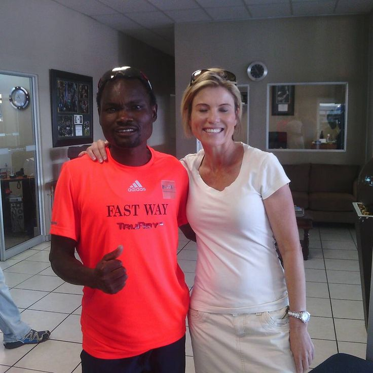 #Muzhingi #FastwayAC #comrades2015 #comradesmarathon2015 #Trurays#PoobieNaidooSports with Linda Truter who completed her first Comrades Marathon this year #congratulations