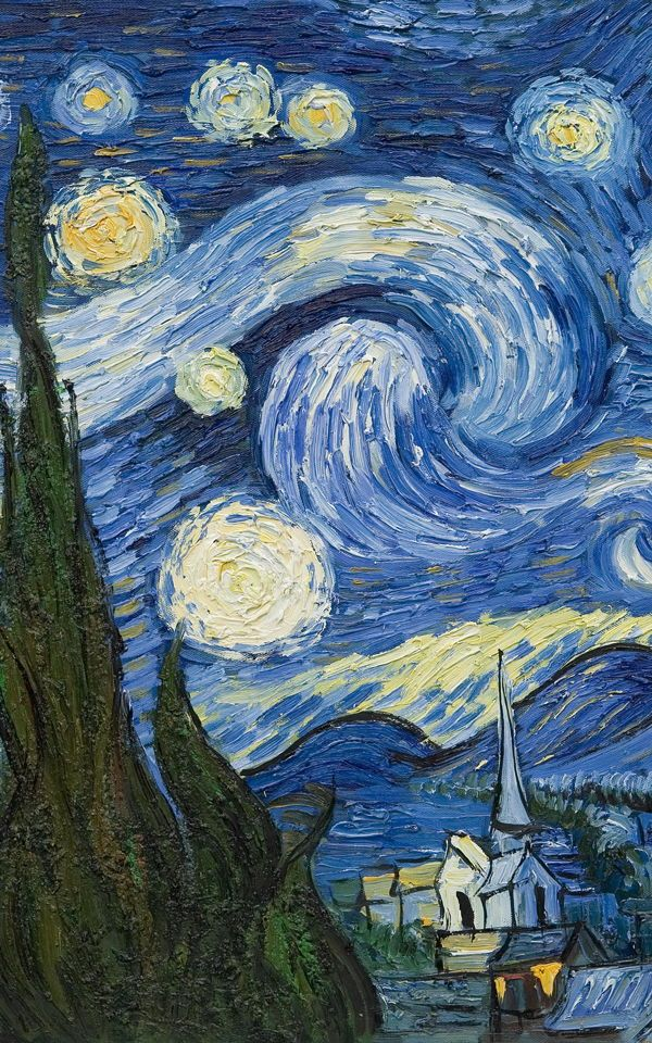 Papier Peint Nuit étoilée De Van Gogh In 2019 Starry Night