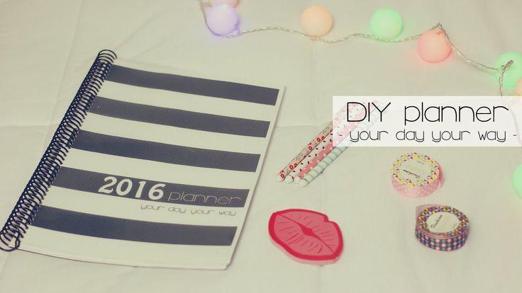 DIY - Faça você mesma planner 2016. DIY fácil, rápido e barato para se organizar melhor em 2016 no blog, estudos e vida pessoal. (Por: Carla Sant'Anna, blog Burguesinhas)