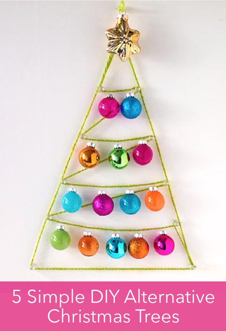 Last minute alternative christmas tree ideas