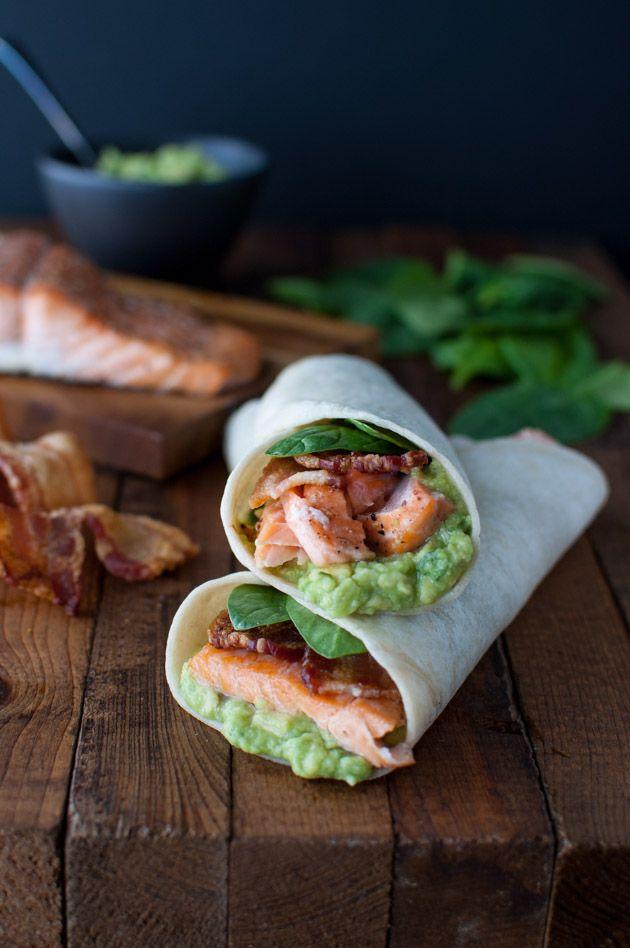 Almuerzo del día: wrap de salmón | Revista Bacanal