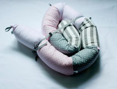 Price: $69  Beautiful soft cushion with countless uses:   to strengthen the shoulder belt, roll and as a development soft toy.  Can also be used as a bumper for baby bed.  When the baby grows and moves into toddler's bed, he can have his favorite snake to protect him from the side of the wall