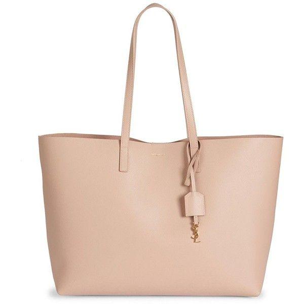Saint Laurent Women's Saint Laurent Large Smooth Leather Shopping Tote ($995) ❤ liked on Polyvore featuring bags, handbags, tote bags, handbags - ysl handbags, nude rose, handbag purse, man bag, handbags totes, shopping tote bags and nude purses