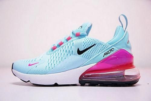 Newest Nike Air 270 Flyknit Bule Pink AH8050 600 Sneakers Womens Running  Shoes  womenrunningshoes 526c3598d
