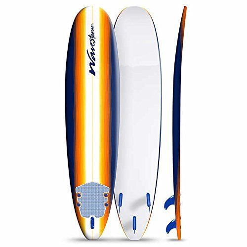 WavestormTM is one of the most recognized foam surfboard brands in the United States. Light-weight, soft & easy to handle, the 8ft Classic Longboard is one of the best-selling learn-to-surf models in the market. Utilizing Wavestorm's extensive manufacturing experience, the 8ft Classic...