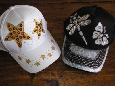gorras decoradas con pedreria - Buscar con Google