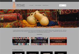 Realizzazione sito web e-commerce per Afolki prodotti di interior design berberi. In collaborazione con Alchimatica srl