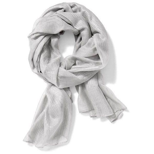 Old Navy Womens Gauze Metallic Stripe Scarf ($17) ❤ liked on Polyvore featuring accessories, scarves, grey, gray scarves, old navy scarves, striped shawl, lightweight scarves and striped scarves