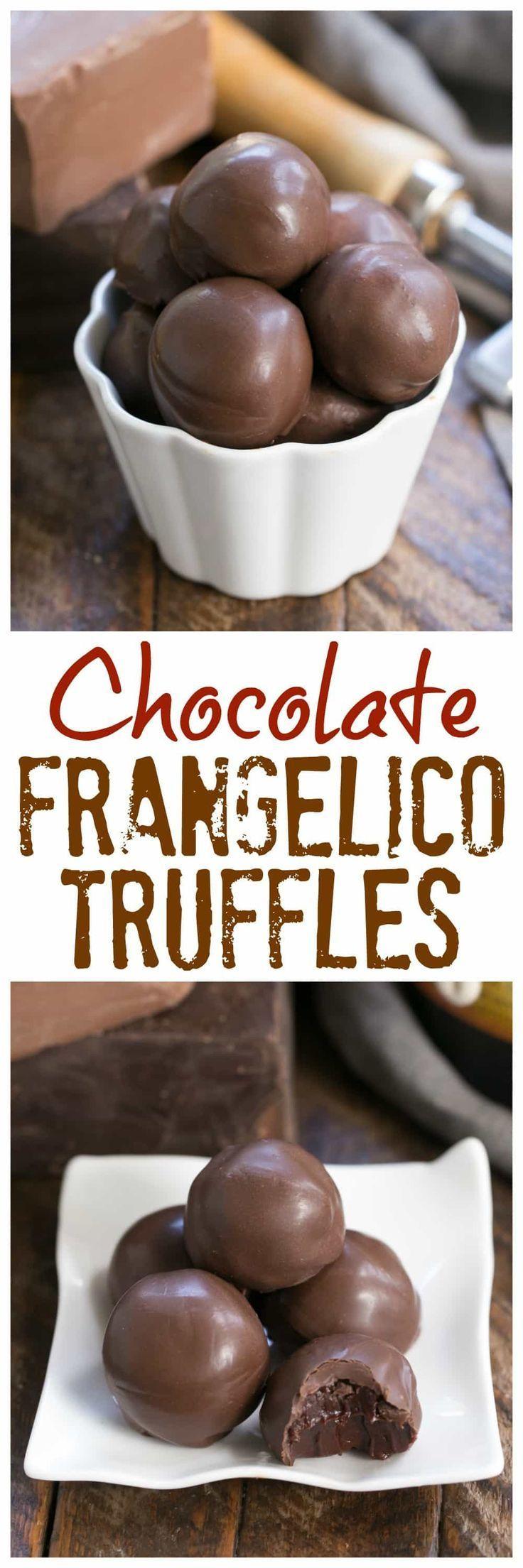 Chocolate Frangelico Truffles | Exquisite truffles flavored with hazelnut liqueur plus a guide for tempering chocolate #chocolate #truffles