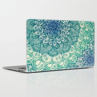 Emerald Doodle Laptop & iPad Skin by micklyn - $30.00 #Micklyn