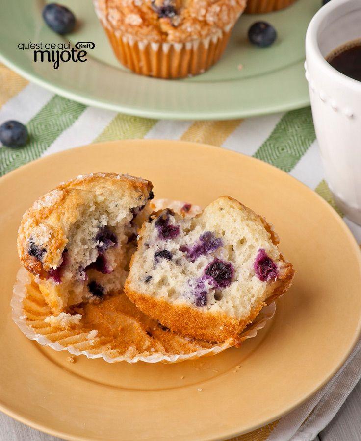 Muffins explosion de bleuets #recette