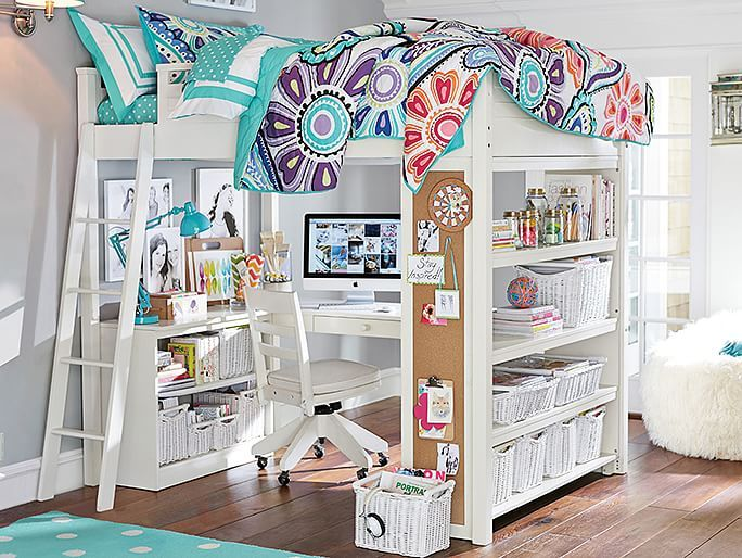 Awesome Sleep + Study® Loft For Savannah And All Her Crazy Amounts Of Stuff Have  This Bedding But Love The Bunk Bed Idea Of The Room
