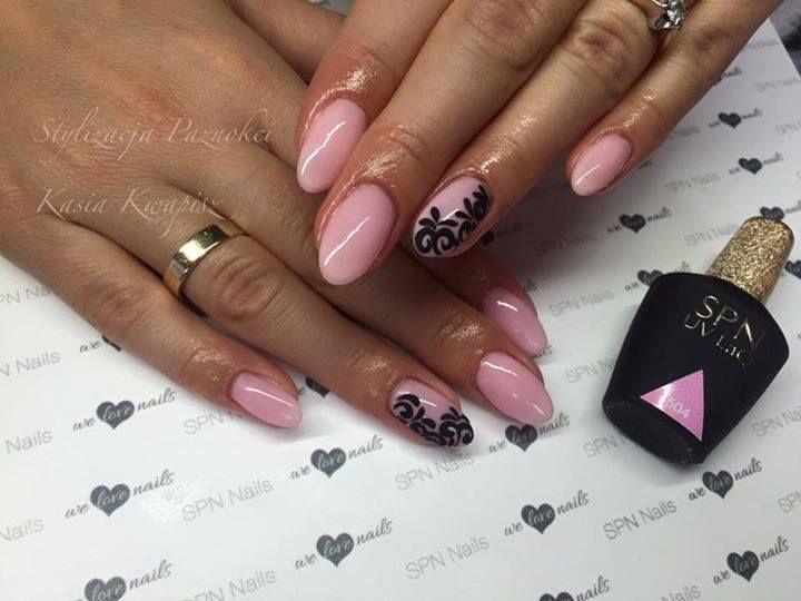 W ten poniedziałkowy poranek delikatne zdobienie bardzo na tak! <3 SPN UV LaQ 504 Candy French Nails by Stylizacja Paznokci Kasia Kwapisz  #SPN #SPNnails #SPNlove #paznokcie #nails #inspiracje #inspirations #nailart #nailartdesign #rosenails