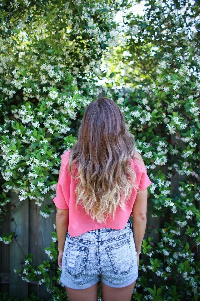 Long Wavy Ombré Hair