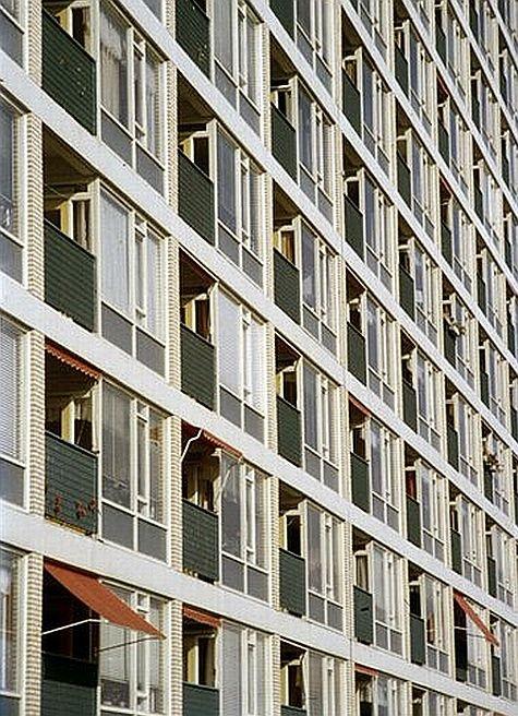 Flatgebouw in Wijk Overvecht 1965