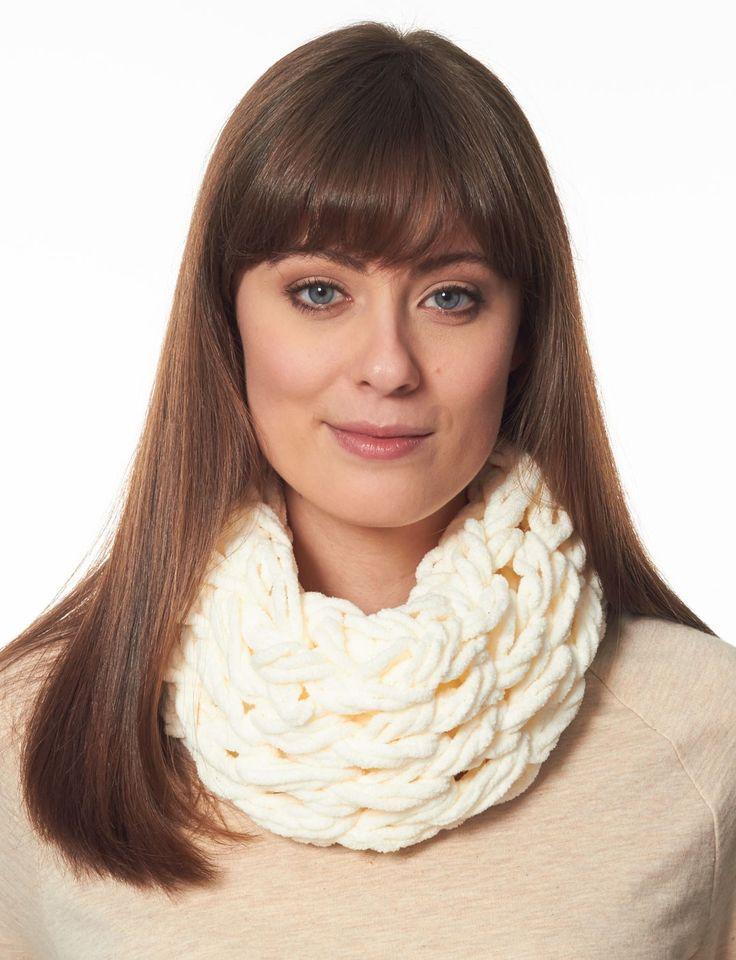 Yarnspirations.com - Bernat Arm Knit Cowl - Patterns  | Yarnspirations- technically not crochet, but arm knit