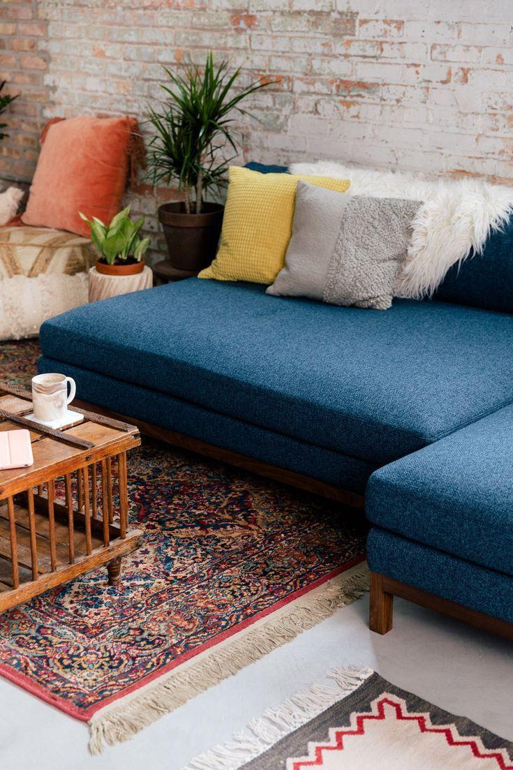 An Indigo Sectional Sofa The Jasper By Interior Define Custom Sectional Sofa Interior Living Room