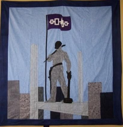 Ironworker Quilt made by Stacey Mitchell (Mohawk Nation)
