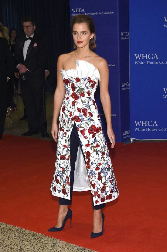What a great look. [Emma-Watson-2016-White-House-Correspondents-Dinner-Red-Carpet-Fahsion-Osman-Tom-Lorenzo-Site (3)]