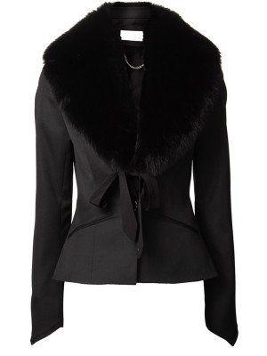 Groot model bont sjaal fake fur fox Marsala - exclusivawebfashion