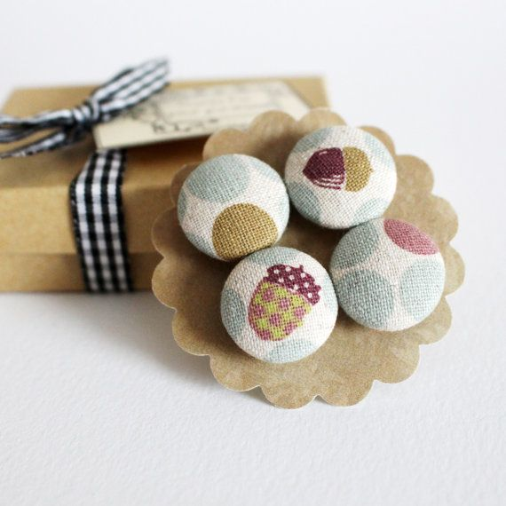 Handmade Linen Magnets by humbleBea.