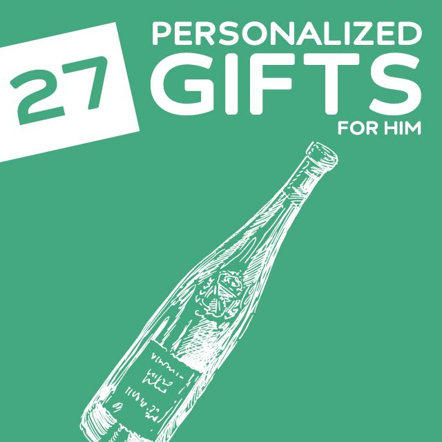 27 Thoughtful Personalized Gifts for Him- a great list of unique personalized gifts for men.